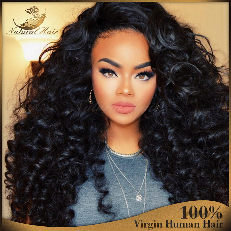 New Fashion Glueless Ombre Full Lace Wig Virgin Human Hair Ombre Two Tone Lace Wigs Curly Brazilian Virgin Hair For Black Women <br><br>Aliexpress
