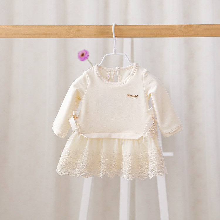 2016 New,baby girls casual dress,children long sleeve dress,embroidered,bow,2 colors,5 pcs/lot,wholesale,2892<br><br>Aliexpress
