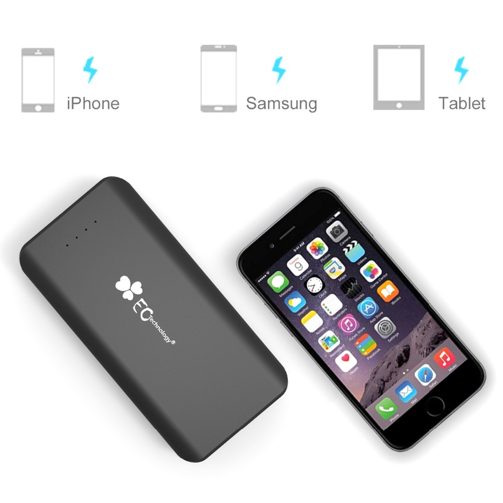 EC Technology22400mAh Ultra High Capacity 3 USB Output External Battery Charger For Most Smart Phones, Pads and Tablets