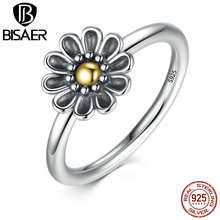 Buy 925 Sterling Silver Stackable Ring Dazzling Daisy Flower Rings Women Wedding Band Compatible Sterling Silver Jewelry for $9.22 in AliExpress store