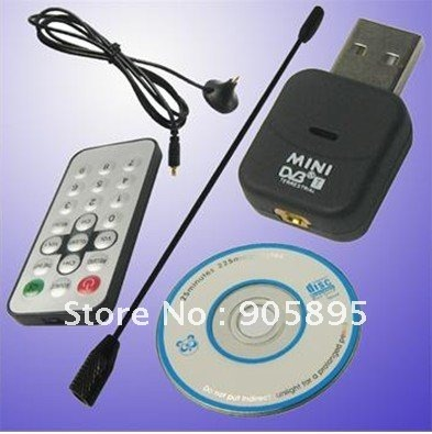 Hot Mini DVB-T Digital USB TV Stick Tuner Receiver with Remote control Free shipping(China (Mainland))