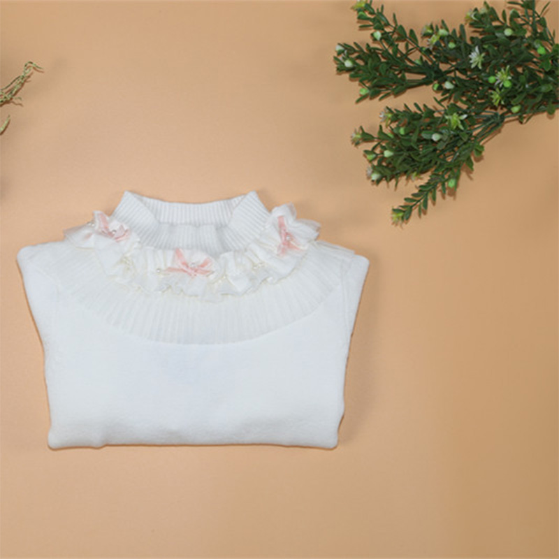 Knitted Sweater Little Girl Sweaters Pullovers Lace Baby Kids Bottom Underwear - Dongguan Jiahao Apparel & Fashion Co., Ltd store