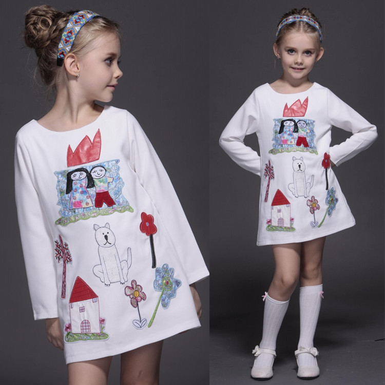 2015 Frozene Anna Princess Dress Christmas Children Clothing Girls Long-sleeve Dresses and Red Cloak Baby&Kids Cosplay Costume