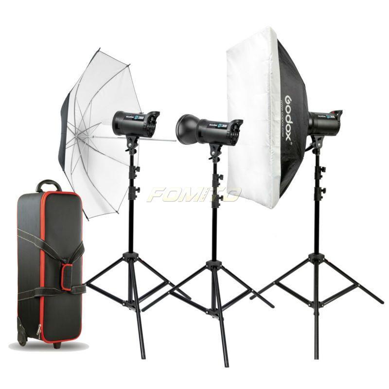 Godox DS300-D 3pcs*DS series Studio Flash Kit Video Photo Studio lighting kit Flash Kit photography flash lighting kit DS300(China (Mainland))