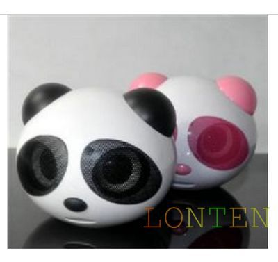 Cute Insert TF Card Digital Display Built-in FM Remote Control Panda Mini Multimedia Speaker(China (Mainland))