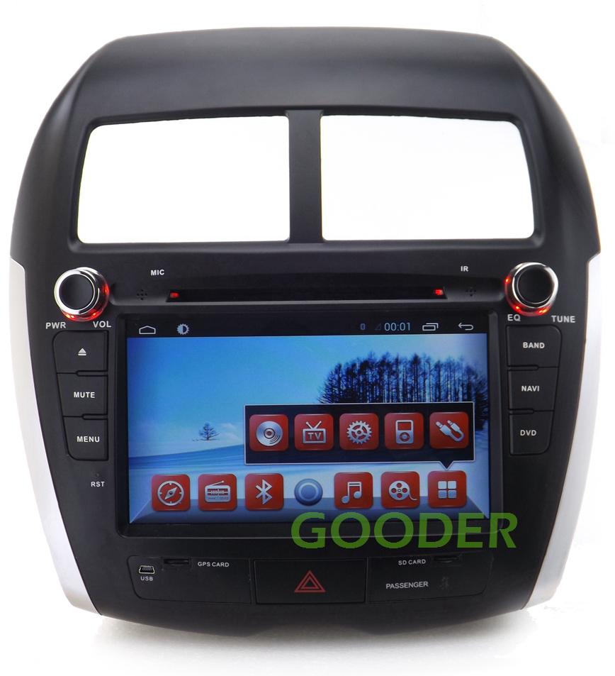 android car dvd gps for mitsubishi asx 2010 2012 with mp3. Black Bedroom Furniture Sets. Home Design Ideas