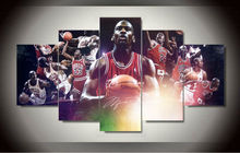 Hot High Quality 4PCS Abstract Canvas Painting Michael Jordan Star Poster Wall Pictures For Living Room Oil Art Painting F/1217(China (Mainland))