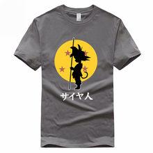 Гоку Dragon Ball, забавные евро размер 100% хлопок футболка Летняя Повседневная с круглым вырезом футболка для мужчин и женщин GMT022(China)