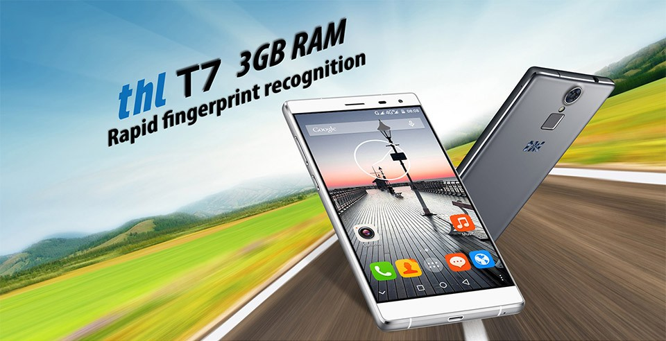 DHL free ship THL T7 Finger ID Smartphone 1280×720 5.5″ HD 4800mAh MTK6753 Octa Core 4G LTE 3GB RAM 16GB ROM 13.0MP Mobile Phone