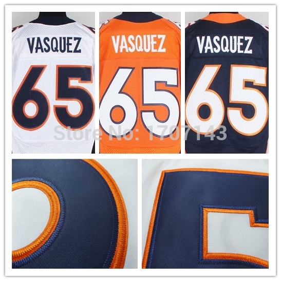 Denver #65 Louis Vasquez Jersey,Cheap American Football Jersey,Embroidery logos,Rugby Jersey,Authentic sports Jerseys 5xl(China (Mainland))