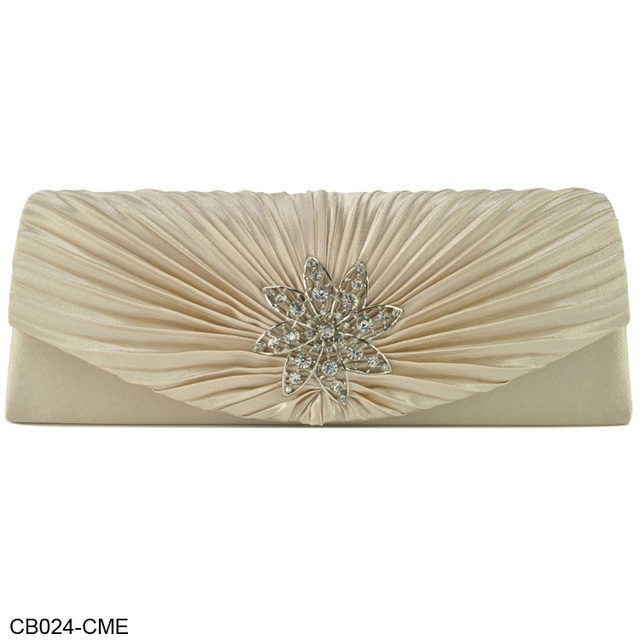 New Design! Free Shipping Wholesale And Retail Elegant Diamante Velour Pleated Design Party Bag Evening Bags 7Color/CB024