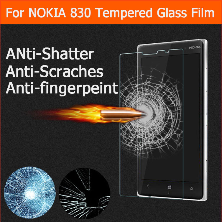 Premium Tempered Glass for Nokia Lumia 830 9H Hard 2.5D Arc Edge Transparent Screen Protector For Nokia Lumia 830 retail Package(China (Mainland))