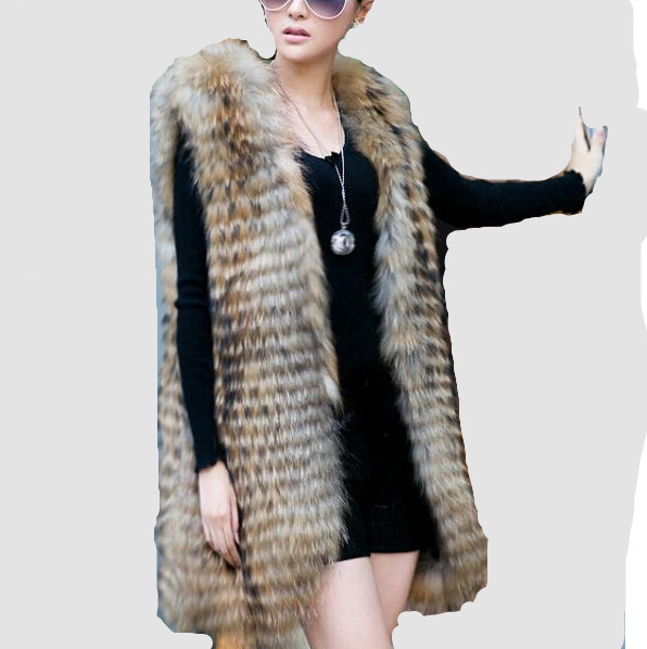2013 raccoon fur raccoon fur pumping knife long design vest outerwearÎäåæäà è àêñåññóàðû<br><br>