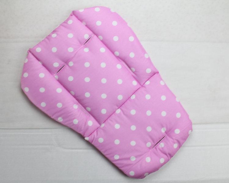 2015 New baby stroller Seat Cushion Cotton stripe baby car waterproof pad stroller accessories Pram Rainbow cotton thick mat(China (Mainland))