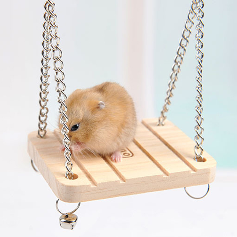 Pet Toys Hamster Rabbit Mouse Chinchilla Wooden Hanging Pet Hammock Small Swing Winter Toys Cage Accessories LS(China (Mainland))