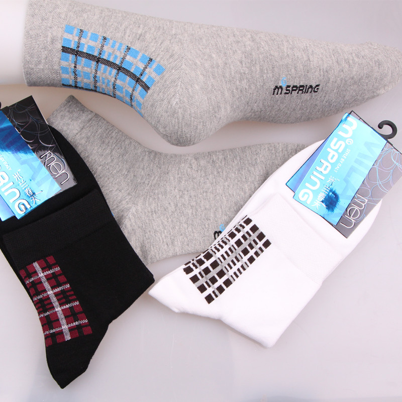 The new male sports socks socks Combed cotton antibacterial deodorizes male socks socks