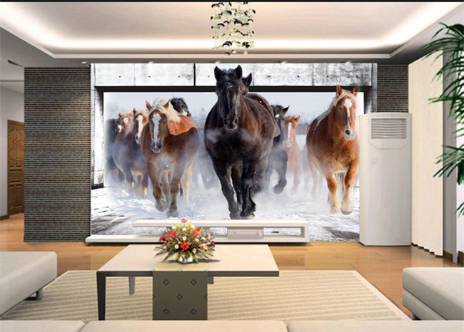 Sofa picture more detailed picture about horse run for 3d wallpaper for home uk