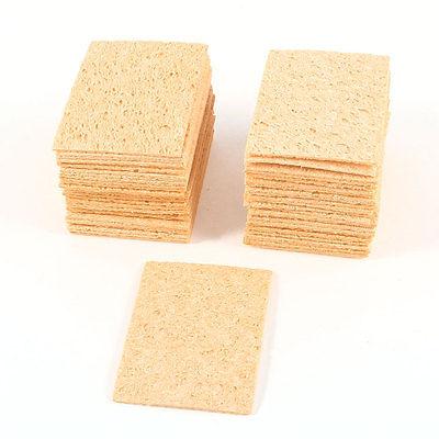 50 Pcs Solder Desoldering Soldering Iron Tip Welding Sponge Cleaners Yellow<br><br>Aliexpress