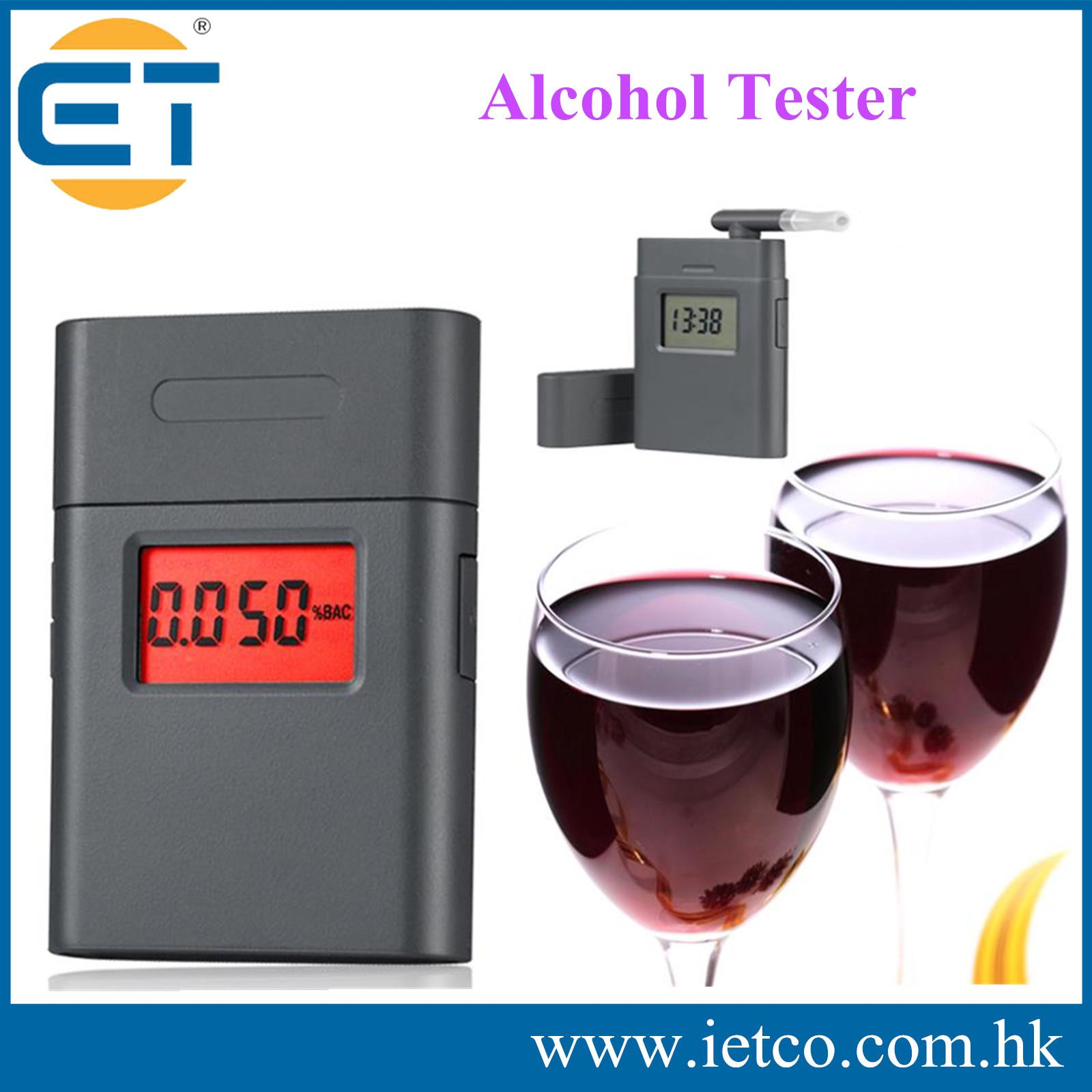 LCD Display Digital Breath Alcohol Tester Breathalyzer Driving BAC Analyzer(China (Mainland))