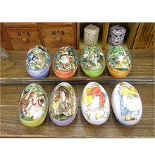 Easter Egg Tin Boxes Kids Party Trinket Gift Storage Candy Metal Festival Case Accessory(China (Mainland))