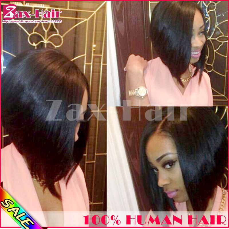 Stock!!! Short bob wigs color #1,#1b,#2,#4 etc. Middle/left/right side brazilian virgin human hair u part wigs best unprocessed