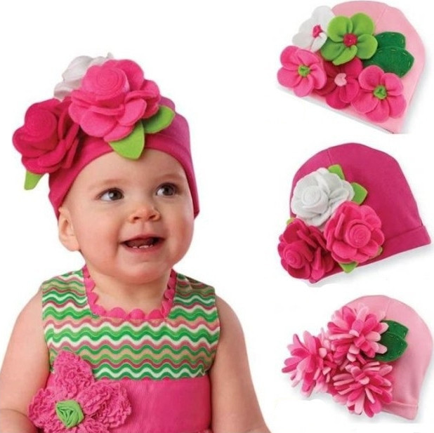 Baby Hats Modeling of Flower Children's Fashion Caps Baby Girls Photo Props Bebe Kids Christmas Gift Spring Autumn Free Shipping