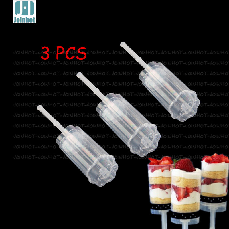 3 PCS flowers Wintersweet Shaped Empty Push Up Pop Cake Containers for Cupcake Shooters with Lid(China (Mainland))