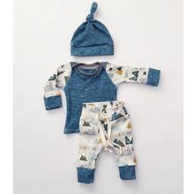 Fashion Baby Boy Clothes Newborn Outfits Autumn Boys Blue Cotton Long Sleeve Boy Set 3PCS Shirt Pants Set Casual Boys Clothing(China (Mainland))