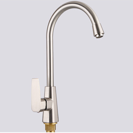 Full Copper White Kitchen Faucet Hot And Cold Single Hole