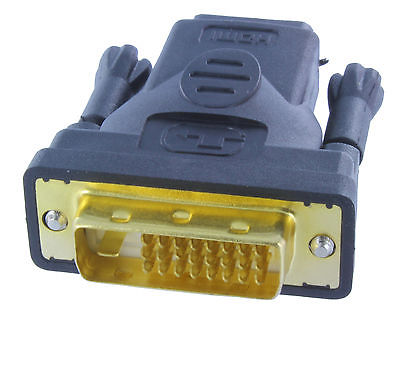 Gold Plated DVI-D Male(24+1pin) to HDMI Female Adapter Monitor Buy 2 Get 1 Free(China (Mainland))