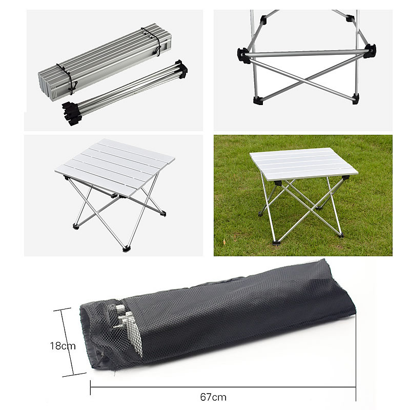 2016 Portable Foldable Folding Table Desk Camping Outdoor Picnic Folding Table Outdoor Tables 6063 Aluminium Alloy Ultra-light<br><br>Aliexpress