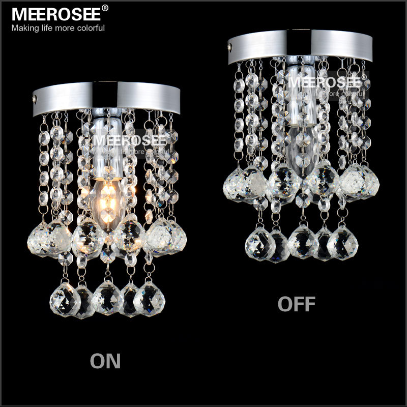 1 light Crystal Chandelier Light Fixture christmas decor Small Clear Crystal Lustre Lamp for Aisle Stair Hallway corridor light(China (Mainland))
