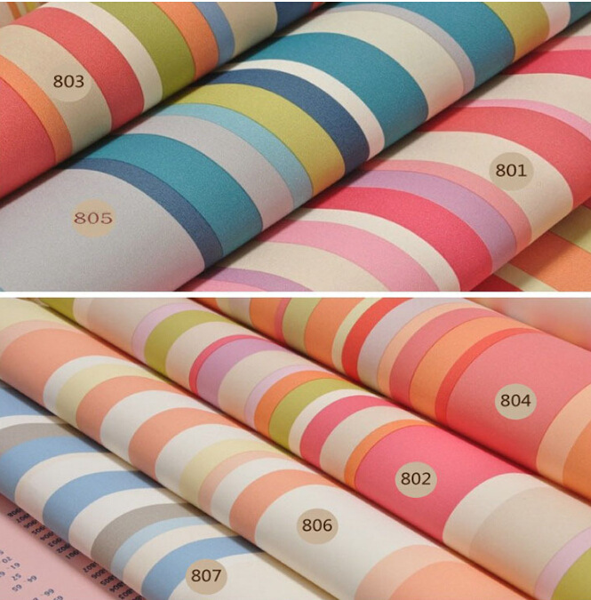 Compra rainbow wallpaper for bedroom online al por mayor de China ...