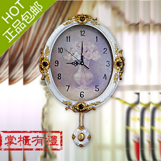 free shipping Fashion wall clock rustic clocks silent pocket watch decoration clock medium-large  home decoration