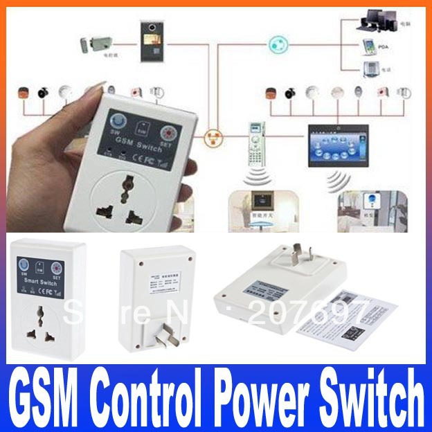 GSM Phone PDA Remote Socket Control Power Smart Switch Free Shipping(China (Mainland))