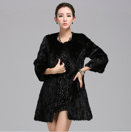 Luxury Winter New Fashion Natural Furs Coats Lady Real Mink Fur Coat For Womens Fur Overcoat Genuine Fur JacketÎäåæäà è àêñåññóàðû<br><br>