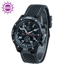 Newly 2015 Fashion Quartz watch Men Military Quality Watches Sports Casual Soft Silicone Wristwatch relojes hombre(China (Mainland))