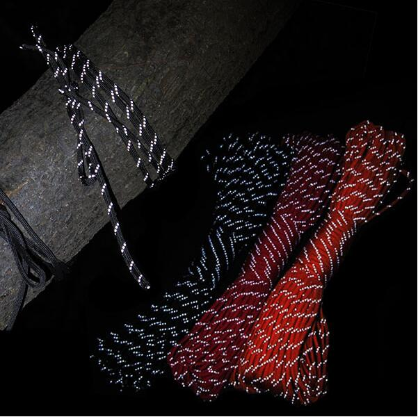 COOL Luminous Outdoor Emergency Paracord Military 550 Parachute Cord 7 cores 4mm Reflective Rope Camping Rescue Survival Gadget(China (Mainland))