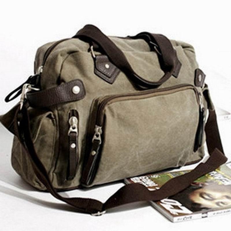 Men messenger bags 2016 Canvas bag briefcase famous designer brands high quality vintage big men travel bag shoulder bag MG317(China (Mainland))