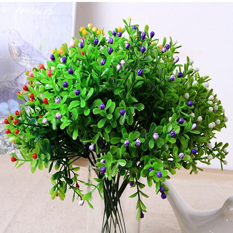 home flowers decoration simulation flower milan grain of plastic flower, grass green plant grain simulation(China (Mainland))