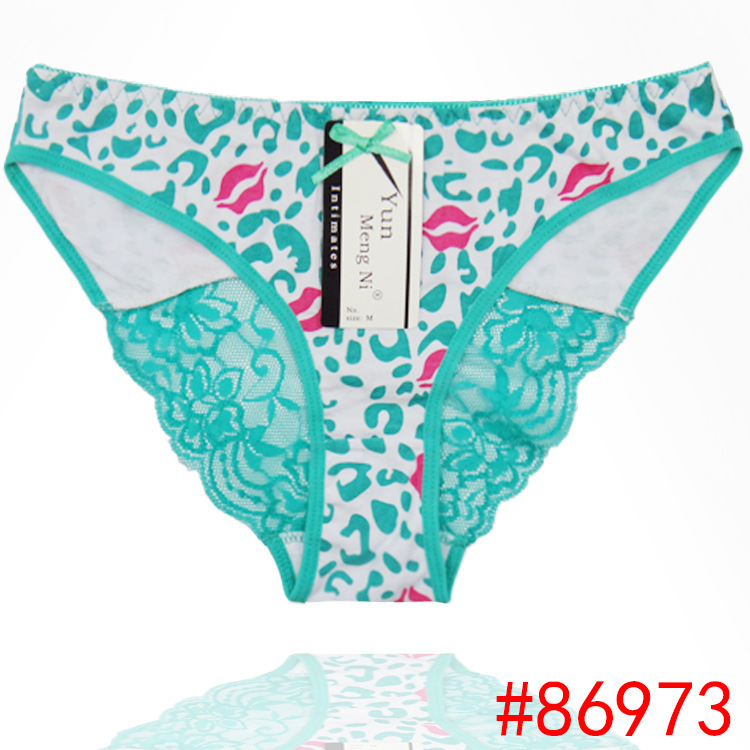 2015 New laced hipster cotton panties sexy leopard lady brief Underpants women underwear girl knickers hot lingerie intimate(China (Mainland))