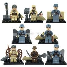 DLP9021 World War II Military Minifigures Army China Japan Soldier Hitlerry 8pcs/lot Building Blocks gift(China (Mainland))