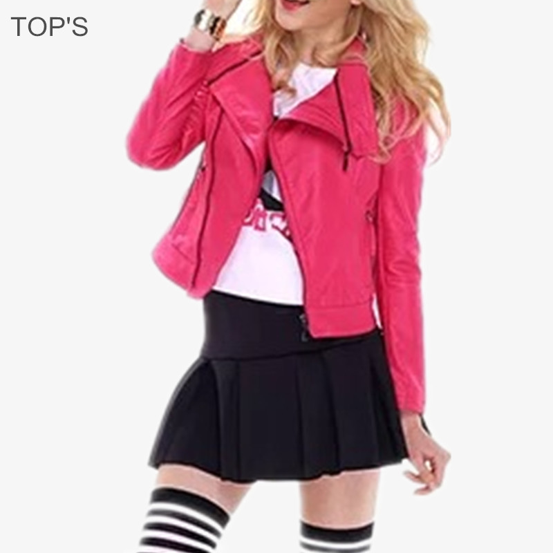 2015 Hot Sell Women PU Bike Jacket Faux Leather Coat Jaqueta Couro Fur CoatОдежда и ак�е��уары<br><br><br>Aliexpress