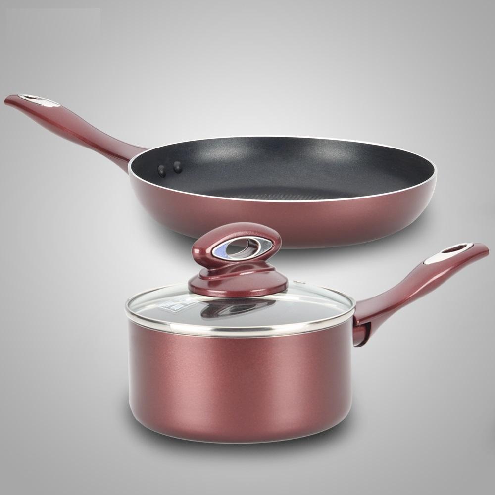 FREE SHIPPING cookware set milk pan frypan kitchen utensil cooking utensil saucepan ceramic coating 3pcs(China (Mainland))