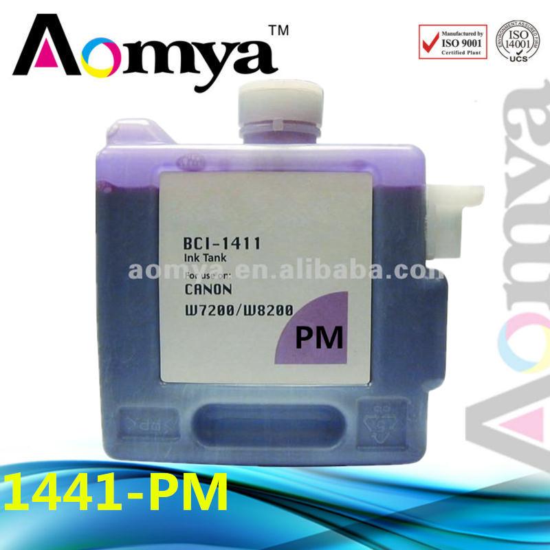 Free shipping Canon BCI-1411PM Photo Magenta Ink Catridge for Canon W7200 W8200 image PROGRAF 330 ml DYE ink(China (Mainland))