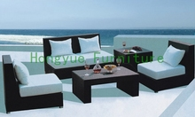 Brown rattan sofa set living room furniture(China (Mainland))