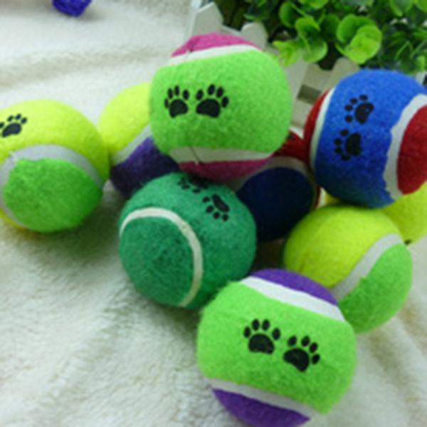 High Quality! Cute Pets Suppliers Dog Cat Tennis Balls Run Play Chew Toys Dog Pet Toys(China (Mainland))