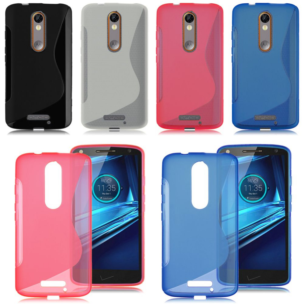 S Line TPU Gel Rubber Soft Back Cover Case For Motorola Moto X Force / Droid Turbo 2 Silicone Shell Phone Case(China (Mainland))