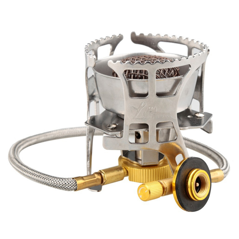 Portable Split <font><b>Stove</b></font> <font><b>Outdoor</b></font> Windproof Gas Burner Multifunctional Camping <font><b>Stove</b></font> <font><b>Outdoor</b></font> Cooking Furnace ZYH-001