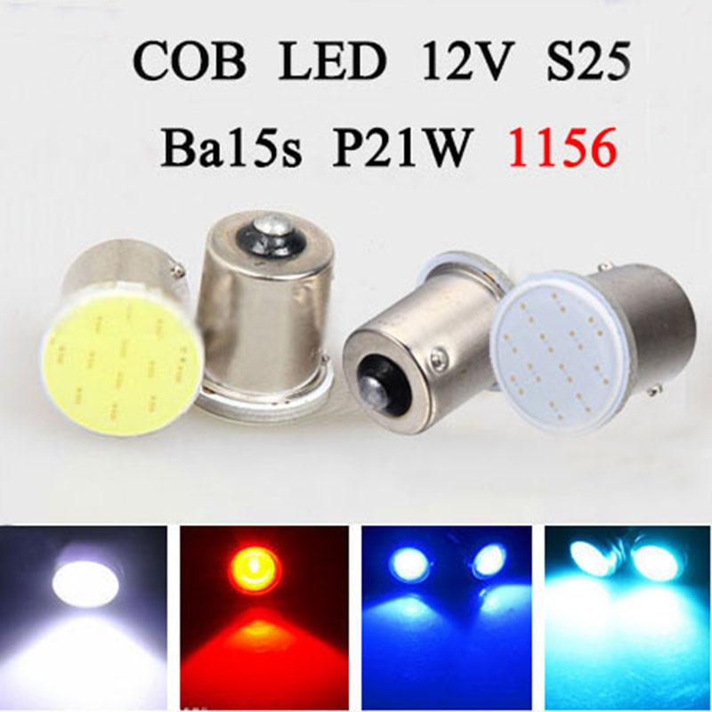 Super Bright White COB LED S25 1156 P21W 20W ba15s Bulbs Brake Parking backup lights Auto Car Signal reverse rear Turn signal<br><br>Aliexpress